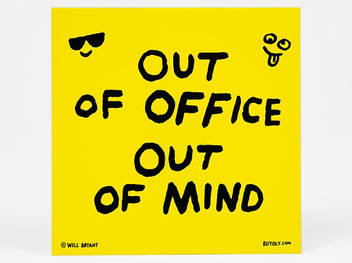 Out of Office Sticker