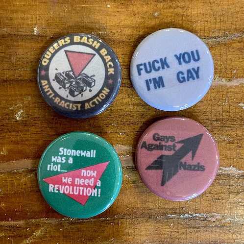 Gay Revolution Button Pack