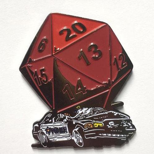 D20 Critical Hit pin