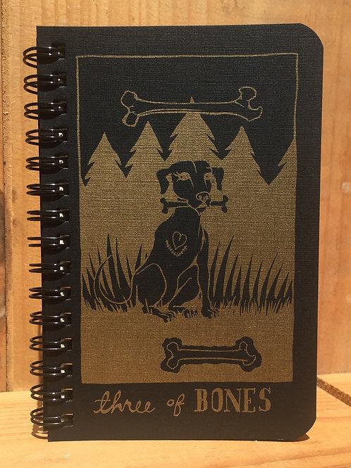 Three of Bones small notebook