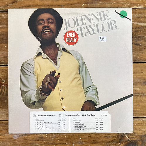 """Johnnie Taylor, """"Ever Ready"""" Promo USED"""