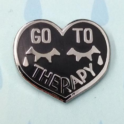 Go to Therapy Pin