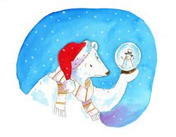 snow globe and polar bear