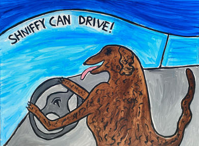 Shniffy can drive!