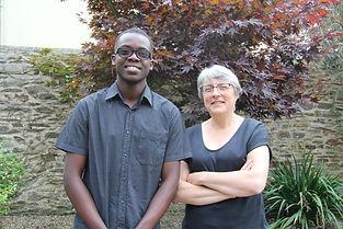 Oddy Junior Naval, Haïtien de 21 ans venu faire ses études en France, et sa tante Florence