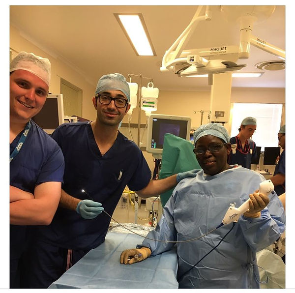 Photograph of Wasim Mahmalji in Operating Theatre