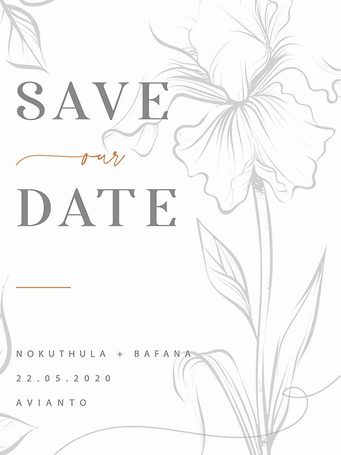THE NOKUTHULA SAVE THE DATE COLLECTION