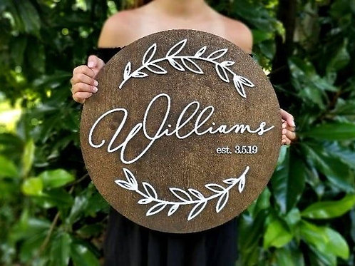 MEDIUM CUSTOM WOOD NAME PLAQUE