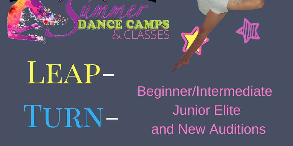 Leap/Turn/Jump Summer Classes (July 10): Beginner/Intermediate Junior Elite and New Auditions