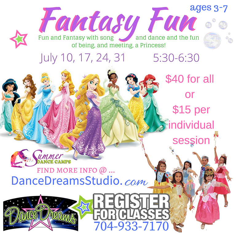 (All 4 classes for $40) Fantasy Fun Ages 3-6 : ALL 4 Classes