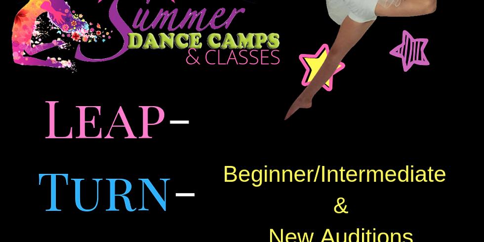 Leap/Turn/Jump Summer Classes (July 31): Beginner/Intermediate Junior Elite and New Auditions (4)