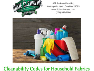 Cleanability Code for Household Fabrics