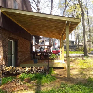 deck and covered area