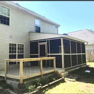 new deck and covered patio