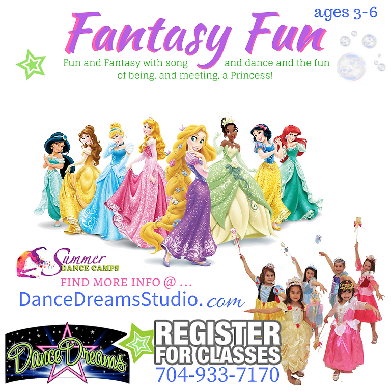 (All 3 classes for $30) Fantasy Fun Ages 3-6 : ALL 3 Classes
