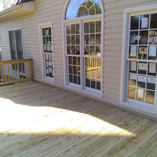 new windows and deck
