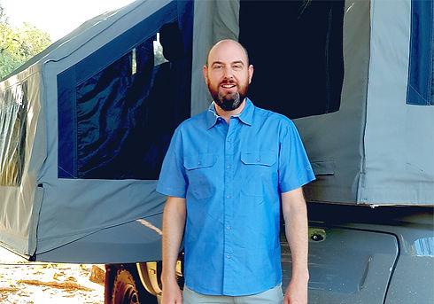 Barry Trippit hard floor family camper trailer