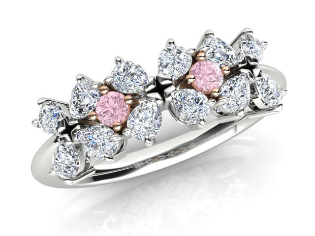 Pink Diamonds in engagement ring