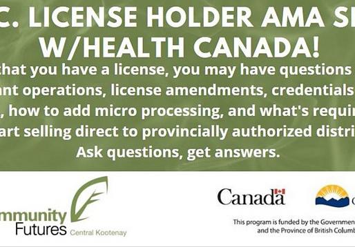 License Holder Micro Cannabis AMA Sesh w/ Health Canada