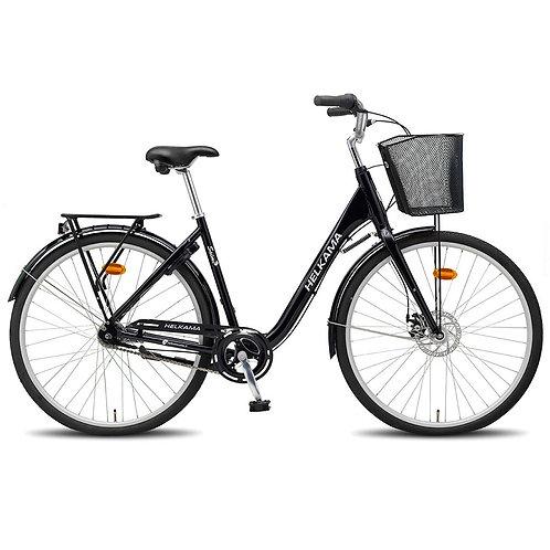 7-vaihteinen naisten kaupunkipyörä Helkama Saimi musta