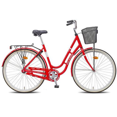 Naisten kaupunkipyörä Helkama Ilona punainen