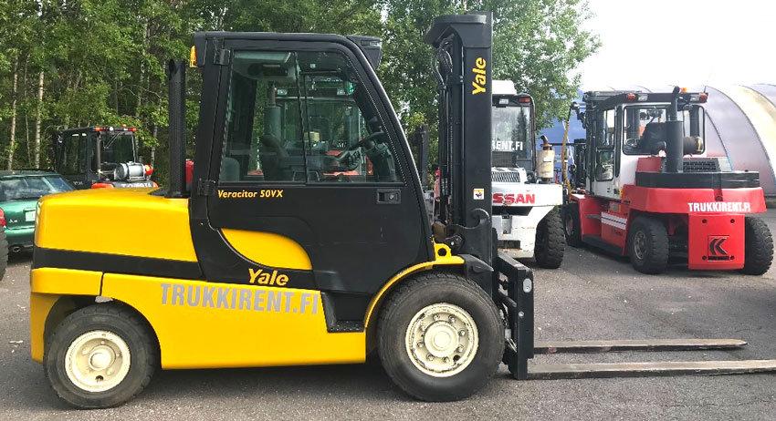 Vuokrattava dieseltrukki Yale GDP50VX