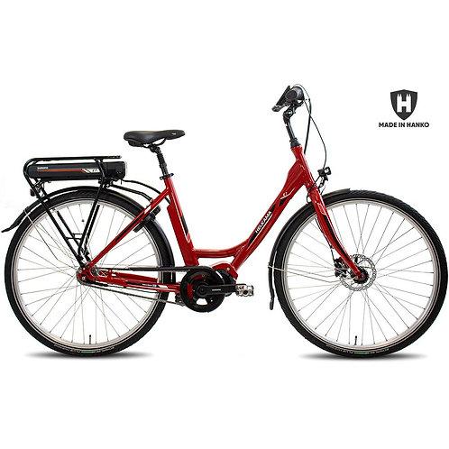 Naisten sähköpyörä Helkama E7i punainen
