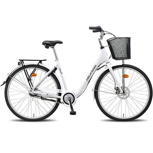 3-vaihteinen naistenpyörä Helkama Saimi valkoinen
