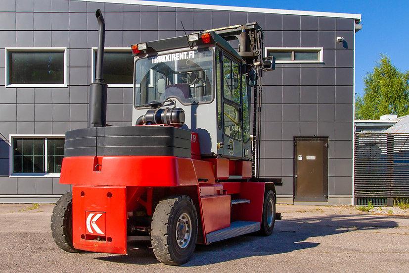 Vuokrattava dieseltrukki Kalmar DCD 90-6LH oikea takakulma