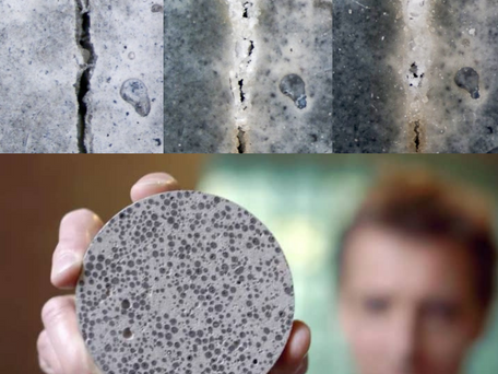 New Construction Technology - Self-Healing Concrete to Repair Cracks