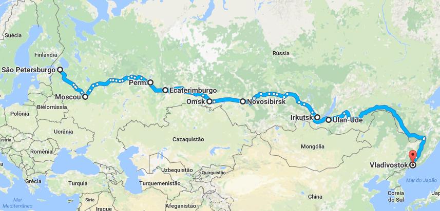Percurso da Ferrovia Transiberiana