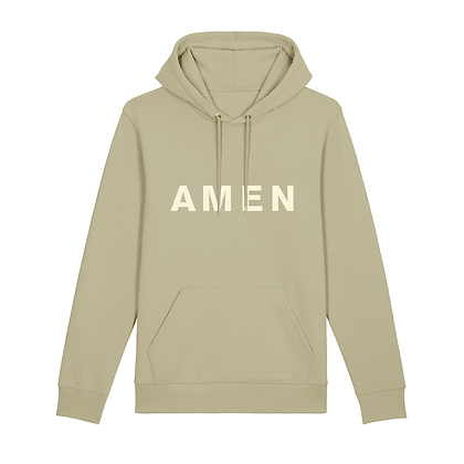 'AMEN' Printed Organic Cotton-blend Hoodie