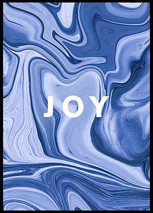 JOY ABSTRACT PAINT POSTER
