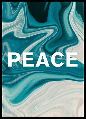 PEACE ABSTRACT PAINT POSTER
