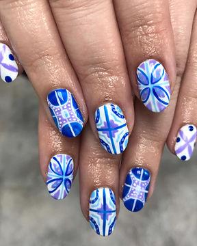 Olivia - Perwinkle, Electriic Blue, Dais