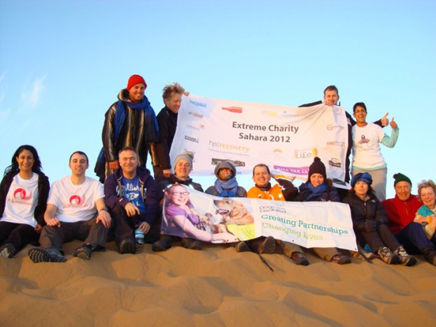 Extreme charity Sahara trek rosie's rainbow fund