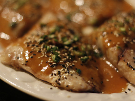 Miso-Mustard Grilled Sea Bass