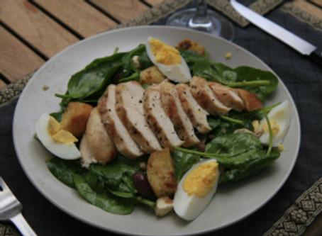 Grilled Chicken & Spinach Salad