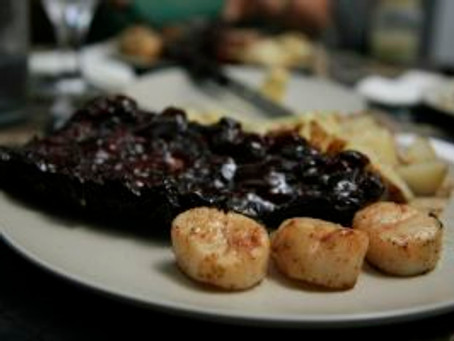 Baby Back Ribs with Seared Canadian Scallops