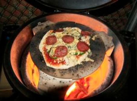 Mamma Mia the egg cracked our pizza stone
