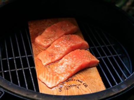 Salmon on the egg