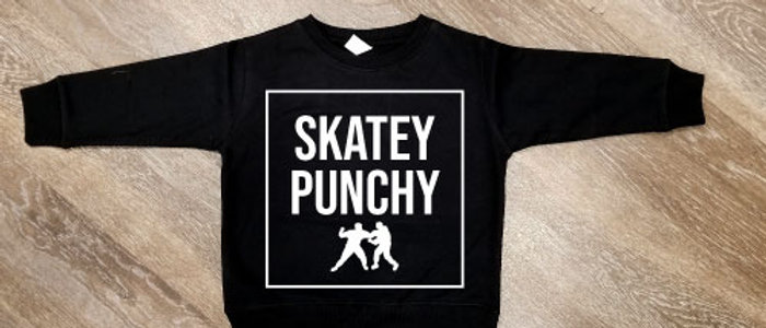 All Out Skatey Punchy Toddler Crew