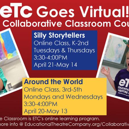 Virtual Theatre Classes for Children Starting April 20