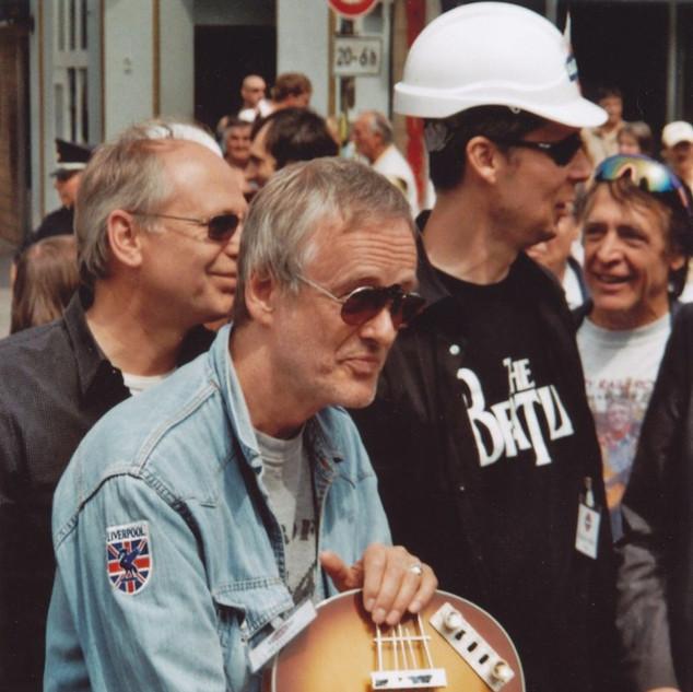 Ulf Krüger auf der Beatles-Platz Eröffnung