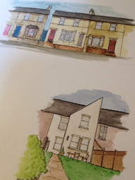 Bespoke house illustration
