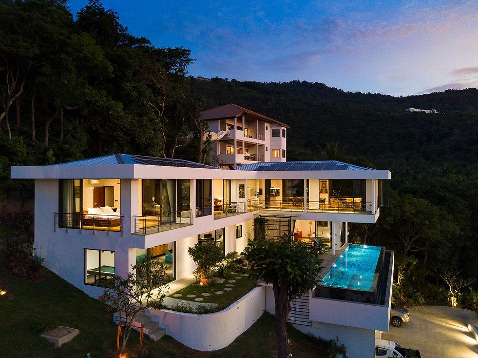 Villa Tosti at Sunset