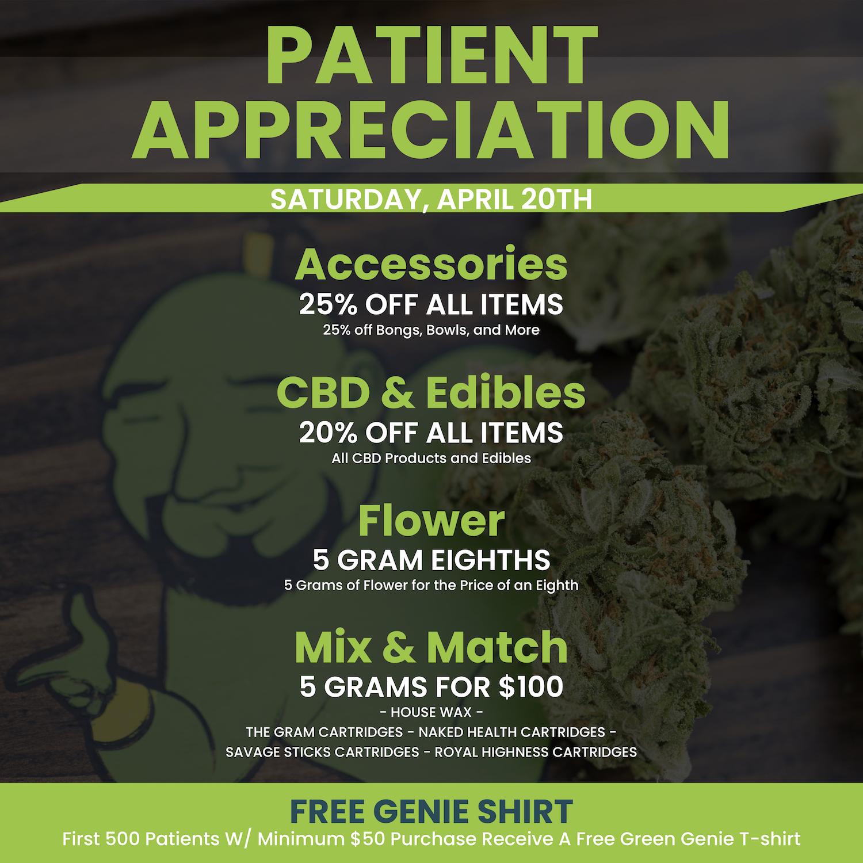 4/20 Deals Have Arrived | Green Genie | Detroit, Michigan
