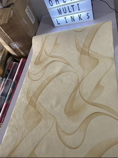 Cream wave 3D wallpaper design