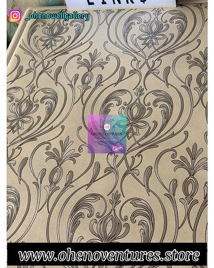 3d Silver flower wallpaper design