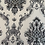 Thumbnail: Black flowered 3d white background design